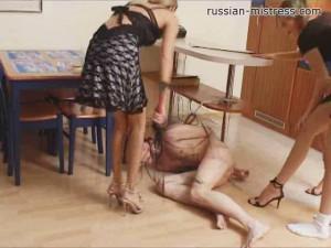 Irina, Ksusha And Tamara Like Dominate [Irina,Humiliation,Strapon,Bondage][Eng]