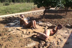 Yvette and Fayth Bound and Gagged in Mud [torture,BDSM,Bondage][Eng]