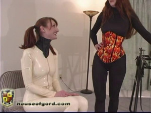 Ball Gag Training [2009,gags,catsuits,electrical][Eng]