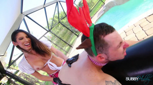 Pool Boy Gets Fucked [2019,Dava Foxx,Femdom,Strapon,Pegging][Eng]
