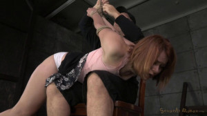 Claire Robbins, Matt Williams and Owen Gray [2014,Redhead,BDSM,Deep Throat][Eng]