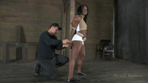 Professional Bodybuilder bound and skull fucked [2012,Ashley Starr,BDSM,Hardcore,Bondage][Eng]