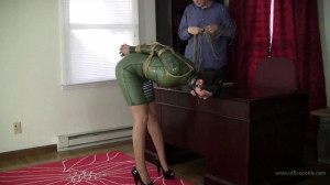 Johannie - Green Latex and Tight Rope [2019,BDSM,Rope,torture][Eng]