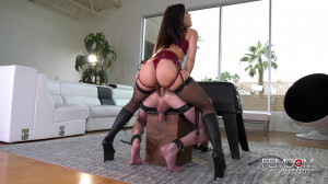 Boy-Pussy Stretched By Kendra Spade [2019,Kendra Spade,Stockings,Femdom,Anal][Eng]
