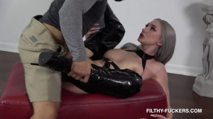 Hard bondage and domination for very beautiful bitch in latex [2020][Eng]