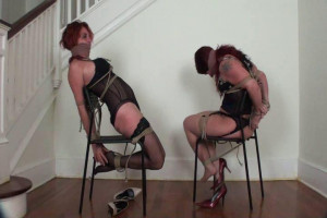 Ashlee Graham and Fayth ChairTie Struggle and Escape? [2019,Bondage,BDSM,Rope][Eng]