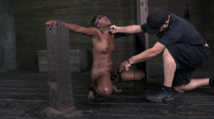 Teen ebony Chanell Heart fucked and throat trained in strict bondage [2013,Chanell Heart,BDSM,Bondage,Hardcore][Eng]