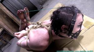 Lydia Black's Box Hogtie - Part 2 [2020, bastinado, harness gag, nude][Eng]
