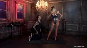 HD Femdom Sex Videos Hot Secretary Controlling Her Boss's Cum [2021,SweetFemdom,Big Tits,Shiny Tights,Leotard / One Piece][Eng]