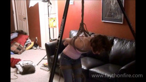 Rik Suspends Fayth and made Orgasm in Tight Jeans [2019,BDSM,Rope,Bondage][Eng]