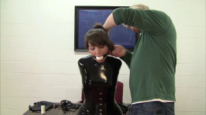 Elizabeth Andrews - Ballet Boot Training in Her Latex Catsuit [2021,BDSM,Rope,Bondage][Eng]