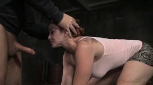 Big Breasted Bella Rossi Restrained In Metal Bondage [Sexuallybroken][Eng]