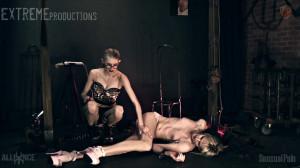 Tgirl Electrifying Chair Bondage [Eng]