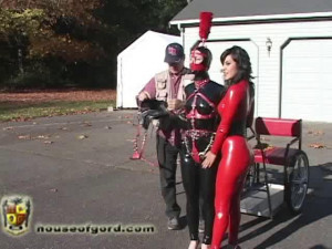 Pony Play at the Schloss [2009,pony,leather,high heels][Eng]