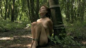 Bondage in woods [2014,Punish,Torture,Bondage][Eng]