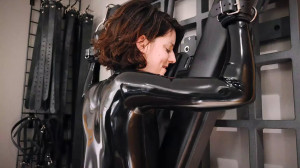 Bondage, domination and spanking for very sexy girl in latex [2020][Eng]