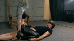 Cruel Anette - Handjob While On His Head [2021,cock tease,glove fetish,face sitting][Eng]
