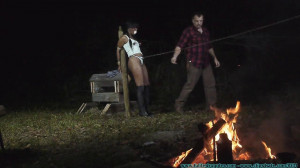Interrogating the Ginseng Thief - Part 1 [2020, nipple clamps, crotchrope, Daisy Dukes][Eng]