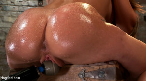 Amy Brooke has her amazing gaping ass fucked and hooked. Made to cum and squirt so hard her ass rosebuds [2011,Kink: Hogtied,Charlie Theron][Eng]