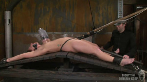 Hard bondage, strappado, spanking and torture for hot bitch part 1 [2019][Eng]