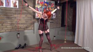 Anita De Bauch - Stockings Spread eagle [2021,Bondage,Rope,BDSM][Eng]