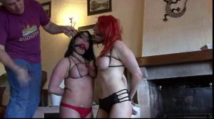 Nadja and Lola meet Lew Rubens [2015,Humilation,Bondage,Bdsm][Eng]