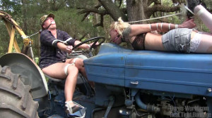 Bound on the Tractor with Fayth on Fire [2021,Rope,BDSM,Bondage][Eng]