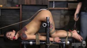 Hard bondage, spanking and torture for sexy naked brunette [2020][Eng]