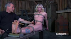 Bondage, spanking and torture for naked blonde part 2 [2021][Eng]