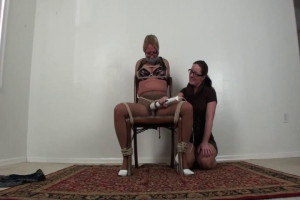 Karinne Chair Tied and XXXX to Cum - The Orgasms [BDSM,Rope,torture][Eng]