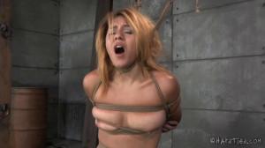 Bondage, hogtie, spanking and torture for sexy slavegirl [2020][Eng]