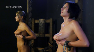 The Competition - Roxana vs. Fatima Part 1 [Spanking,BDSM][Eng]