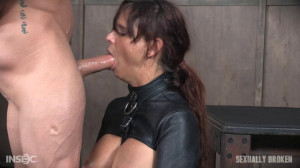 Hot Cougar is helpless in a straight jacket [Eng]