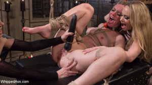 Maitresse Madeline and Aiden Starr haze, domme and fuck Mona Wales! [Kink: Whipped Ass,Maitresse Madeline Marlowe ][Eng]
