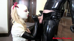 Super bondage, domination and torture for horny blonde in latex [2020][Eng]