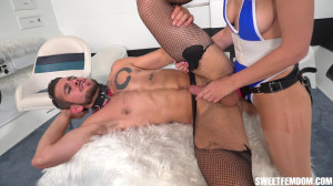 Super Ginger VS Dante Colle Part 2 [2021,Dante Colle,Pantyhose,Pantyhose,Cum Eating Instructions][Eng]