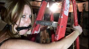 Arielle Ladder Bound and Drooling [2019,Bondage,torture,BDSM][Eng]