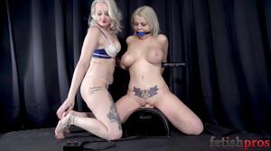 Two sexy blonde Sybian [2019,Bondage,Orgasm][Eng]