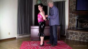 Jasmin Jai Pink and Black Latex Hogtie [2019,Bondage,torture,BDSM][Eng]