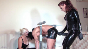 Mistress Lady Renee and Mistress Heather Divine - Latex Spit Roast [2020,Femdom ,Foot Fetish,Foot Domination][Eng]