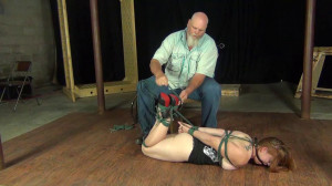 Carmen Rough: Manhandled and hogtied [2020,Rope,BDSM,torture][Eng]