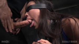 Asian Fuck Doll Kalina Ryu Shackled Down Blindfolded [Sexuallybroken][Eng]