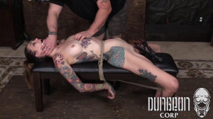 Dungeon Corp - Rocky Emerson - An Exquisite Subject part 4 [2017,Dungeon Corp,Rocky Emerson,armbinder struggle,struggling babes in tight leather bondage,monoglove bondage][Eng]