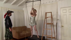 Barefoot Suspension Squirming in Silky Slip Plus HowTo Lorelei Mr Fish [Eng]
