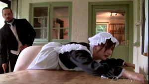 The Whipped Maid [2021,dreamsofspanking,Leia-Ann Woods,Vintage,Spanking,BDSM][Eng]
