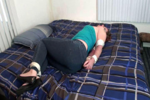 Nose Clipped and Elbows Tied! [2019,torture,BDSM,string][Eng]