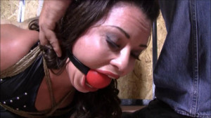 Tight bondage, strappado and hogtie for very horny brunette [2020][Eng]