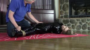 Cobie Entangled In Rope - Very Tall Dirty Blonde Cat Burglar... [BDSM][Eng]