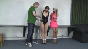 Holly Wood and Elizabeth Andrews - Tight Latex and Tight Bondage [2021,BDSM,Rope,Bondage][Eng]