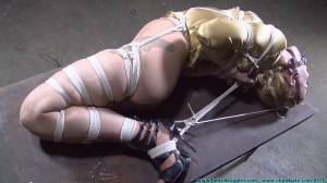 Huge Gags, Drool, and a Reverse Prayer Hogtie for Moxie Part 4 [Eng]